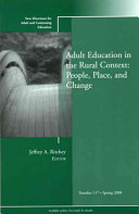 Adult Education In The Rural Context People Place And Change