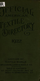 Official American Textile Directory