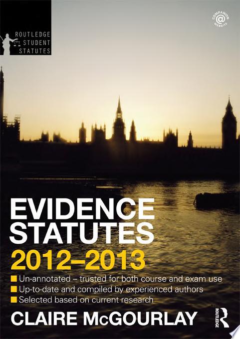 Evidence Statutes 2012 2013