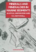 Minerals and Mineraloids in Marine Sediments Pdf/ePub eBook