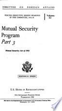 Mutual Security Program  Mutual Security Act of 1954