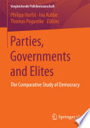 Parties  Governments and Elites Book