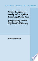 Cross Linguistic Study of Acquired Reading Disorders