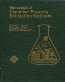 Handbook Of Chemical Property Estimation Methods Book PDF