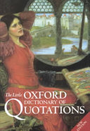 The Little Oxford Dictionary Of Quotations PDF