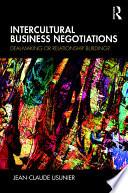 Intercultural Business Negotiations