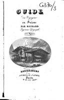 Guide du voyageur en Suisse