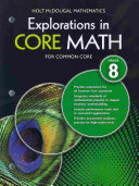 Explorations in Core Math for Common Core Grade 8