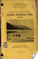 Circular Of General Information Regarding Acadia National Park Maine