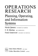 Operations Research  Planning  Operating  and Information Systems Book