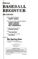 The Sporting News Official Baseball Register  1986 Book PDF