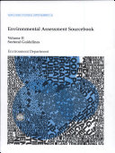 Environmental Assessment Sourcebook: sectoral guidelines