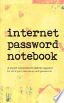 Internet Password Notebook