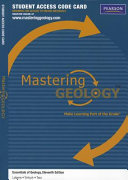 Essentials of Geology Masteringgeology Standalone Access Card Book