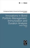 Innovations in Bond Portfolio Management
