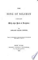 The Song of Solomon Compared with Other Parts of Scripture Book