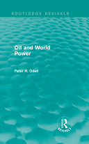 Oil and World Power (Routledge Revivals)