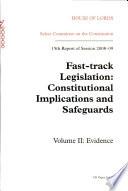 Fast track legislation