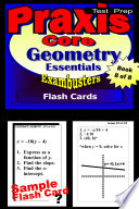 PRAXIS Core Test Prep Geometry Review  Exambusters Flash Cards  Workbook 8 of 8