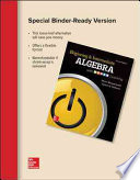 Loose Leaf Beginning & Intermediate Algebra with POWER Learning, 4e