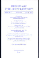 the journal lof intelligence history