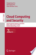 Cloud Computing and Security Book