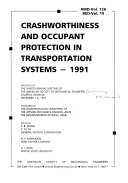 Crashworthiness and Occupant Protection in Transportation Systems