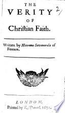The Verity of Christian Faith