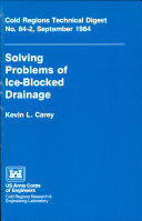 Solving Problems of Ice-blocked Drainage ebook