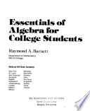 Essentials of Algebra for College Students