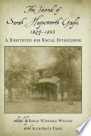The Journal of Sarah Haynsworth Gayle, 1827–1835