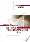 Analytical And Computational Methods In Electromagnetics Book PDF
