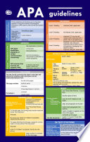 APA Guidelines in Tables  Quick Study APA