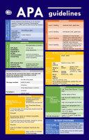 APA Guidelines in Tables (Quick Study APA) Pdf/ePub eBook