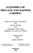 Economics of Dryland and Rainfed Farming