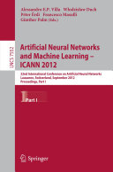Artificial Neural Networks and Machine Learning -- ICANN 2012 [Pdf/ePub] eBook