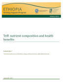 Teff  nutrient composition and health benefits