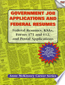 Government Job Applications Federal Resumes Book PDF