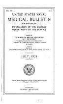 United States Naval Medical Bulletin V 21 1924