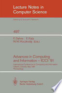 Read Online Advances in Computing and Information - ICCI '91 For Free