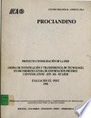 Proyecto Consolidacion de la Red: Andina de Investigacion y Transferencia de Tecnologia en Frutihorticultura de Exportaction Fruthex Convenio Atn/Sf-4359-RG-IICA/BID: Evaluacion ex-Post 1998