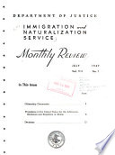 Monthly Review - Immigration and Naturalization Service