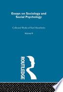 Essays Soc & Social Psych
