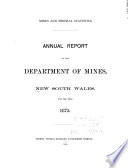 Annual Report New South Wales Department Of Mines