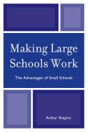 Making Large Schools Work Pdf/ePub eBook