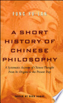"""A Short History of Chinese Philosophy"" by Yu-lan Fung, Derk Bodde"
