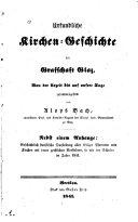 Urkundliche Kirchen-Geschichte Der Grafschaft Glaz