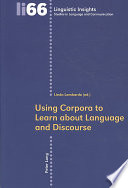 Using Corpora to Learn about Language and Discourse