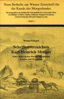 Schriftenverzeichnis Karl Heinrich Menges
