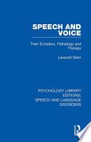 Speech and Voice